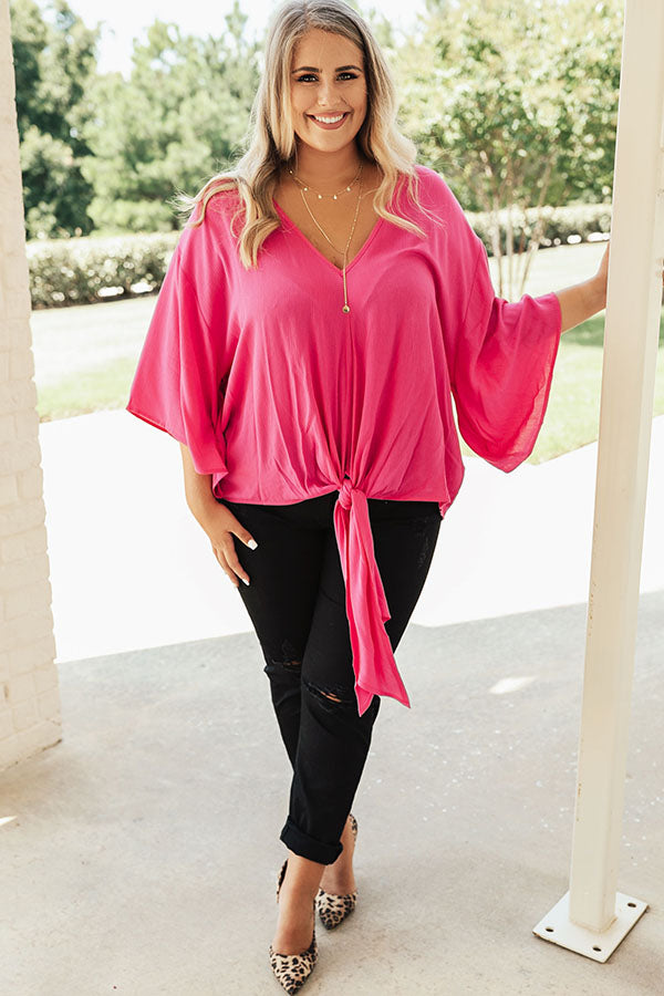 Why Knot Shift Top In Fuchsia