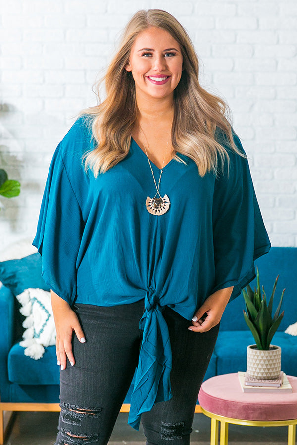 Why Knot Shift Top In Teal