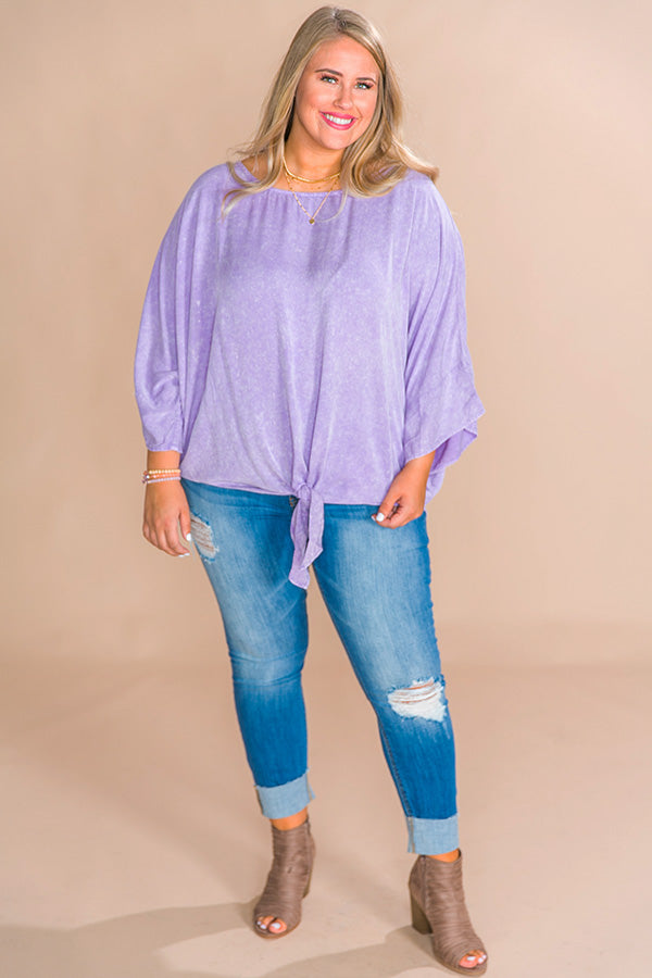 Chardonnay Sipping Shift Top in Violet