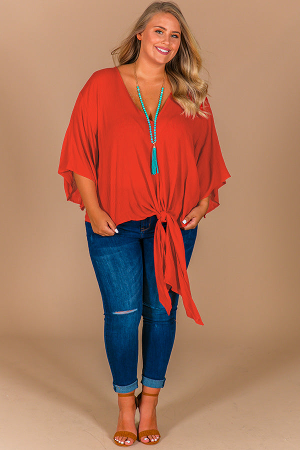 Why Knot Shift Top In Tangerine