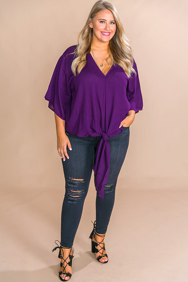 Why Knot Shift Top In Royal Plum