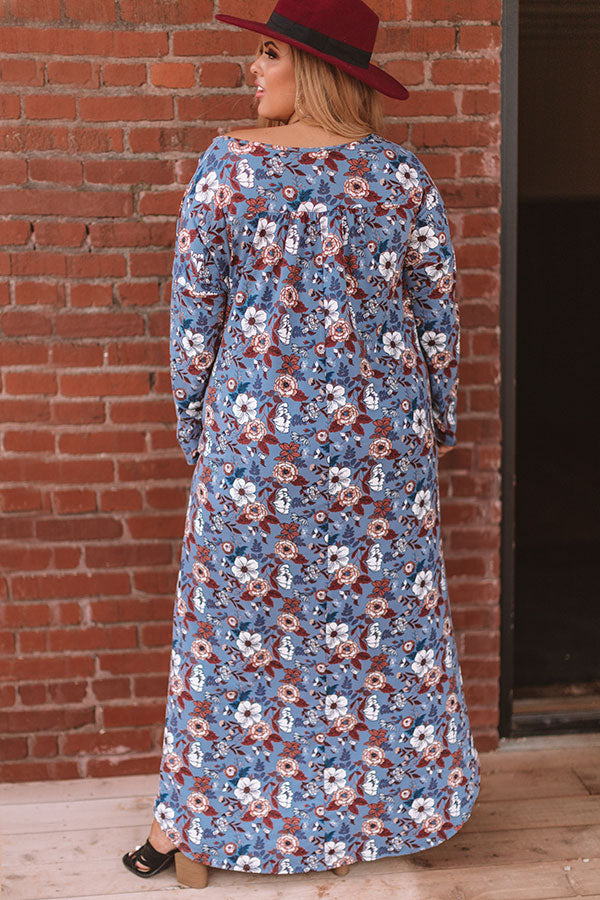 Pocket Full Of Posies Maxi In Blue