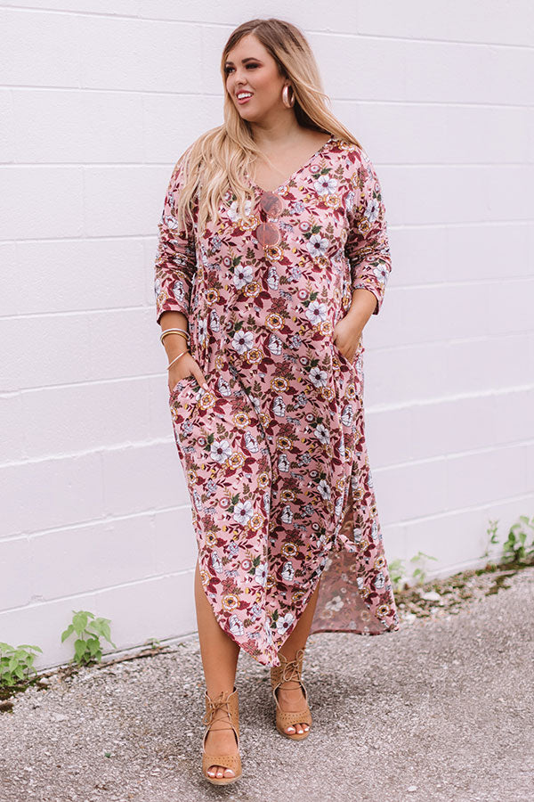 Pocket Full Of Posies Maxi In Blush