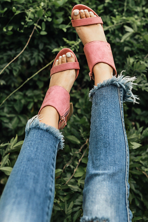 The Darcy Heel in Blush