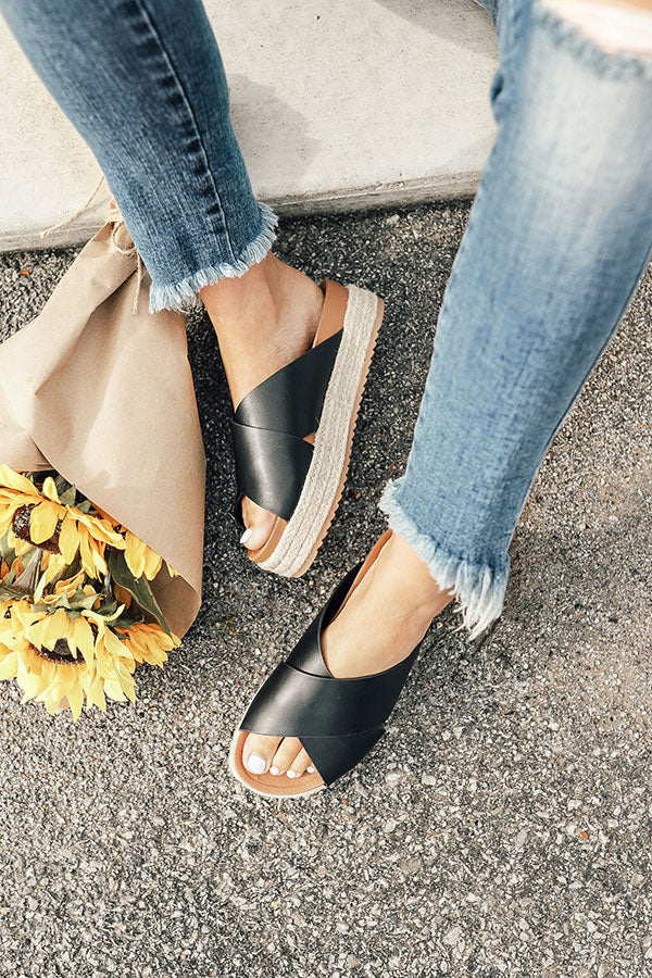 The Becca Espadrille in Black