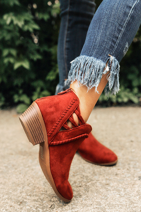 The Campbell Bootie in Rustic Wine