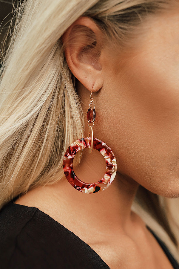 Completely Dazzled Earrings In Wine