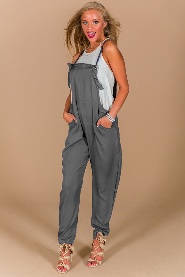 Touring Milan Jumpsuit in Slate