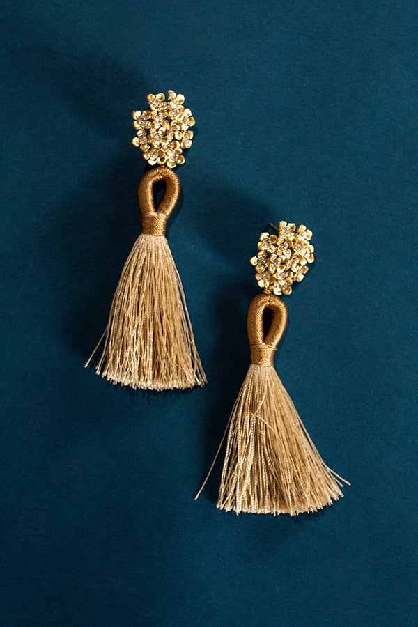 All The Sparkles Tassel Earrings