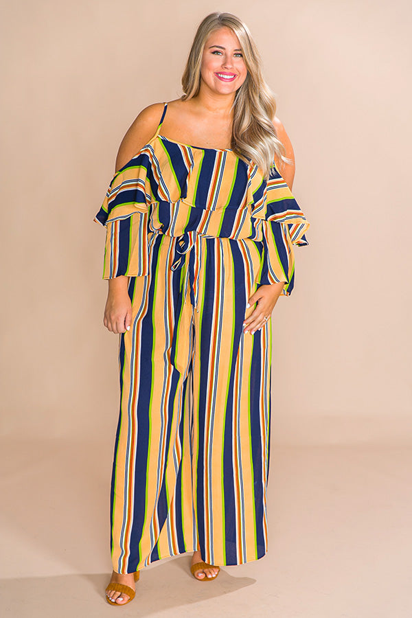Met Gala Moment Stripe Jumpsuit