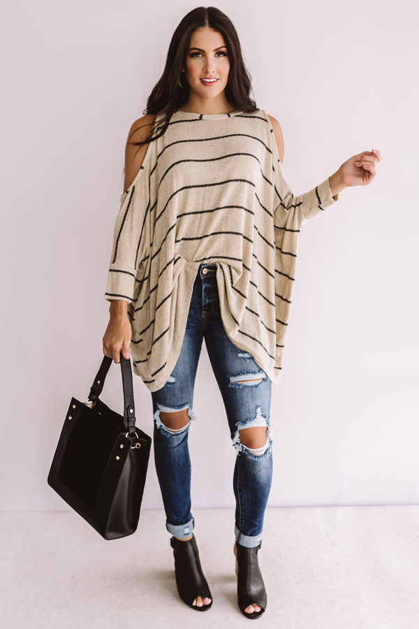 Lattes and Lounging Shift Tunic in Taupe