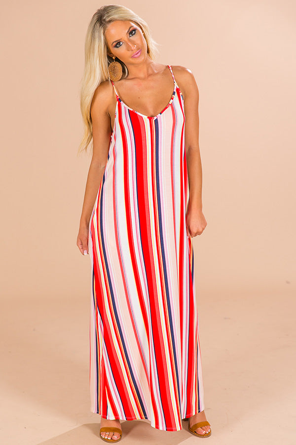 Prosecco In Paris Stripe Maxi