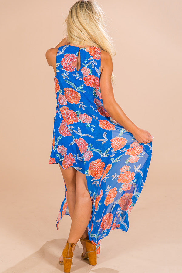 Brunching In Napa Maxi Dress in Blue
