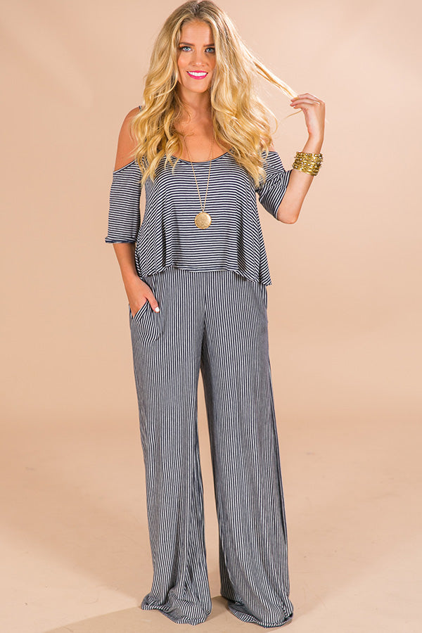 Take Me To Nantucket Stripe Jumpsuit