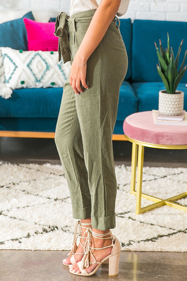 Hello Manhattan Trousers in Olive