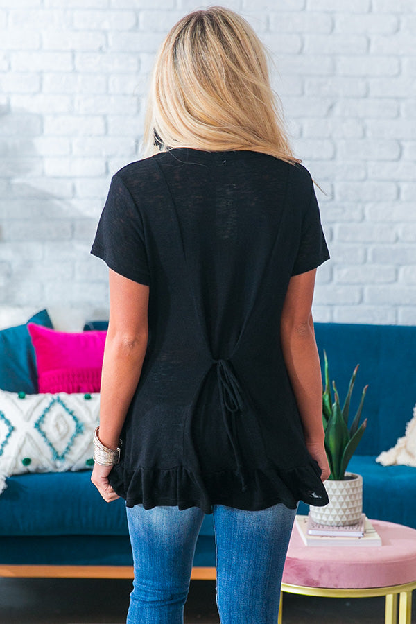 Concert Casual Shift Top in Black