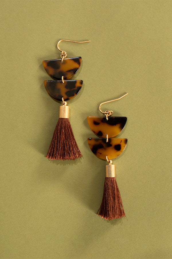 Vogue After Party Earrings In Tortoiseshell