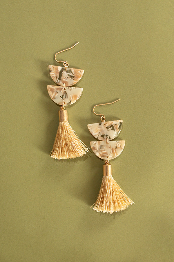 Vogue After Party Earrings In Ivory
