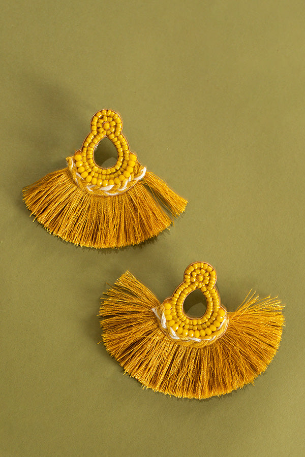 Park Ave Brunch Earrings In Yellow