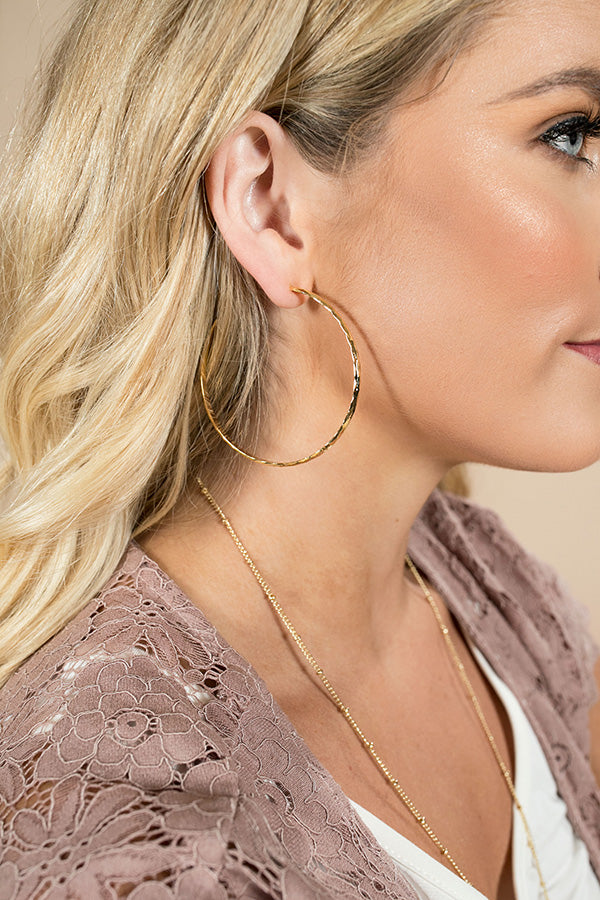 Delicate Daydream Hoop Earrings