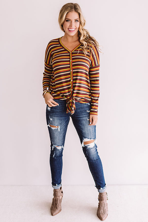 Good Vibes Stripe Shift Top