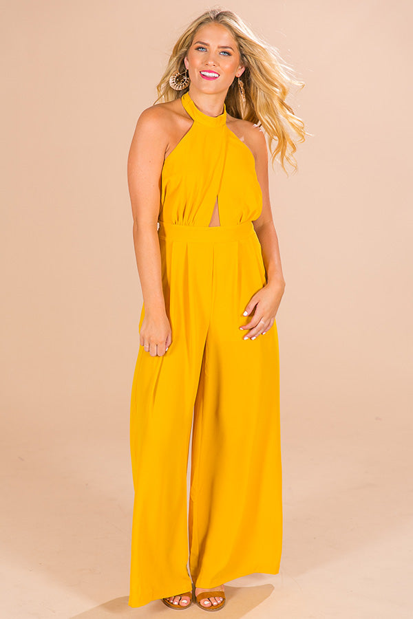 Let Love Shine Halter Jumpsuit