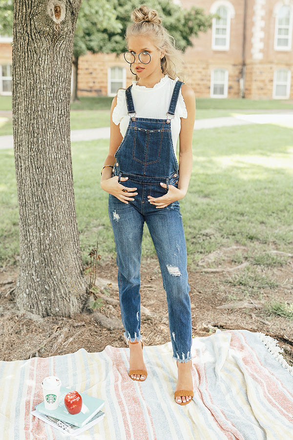 The Baylor Distressed Overalls