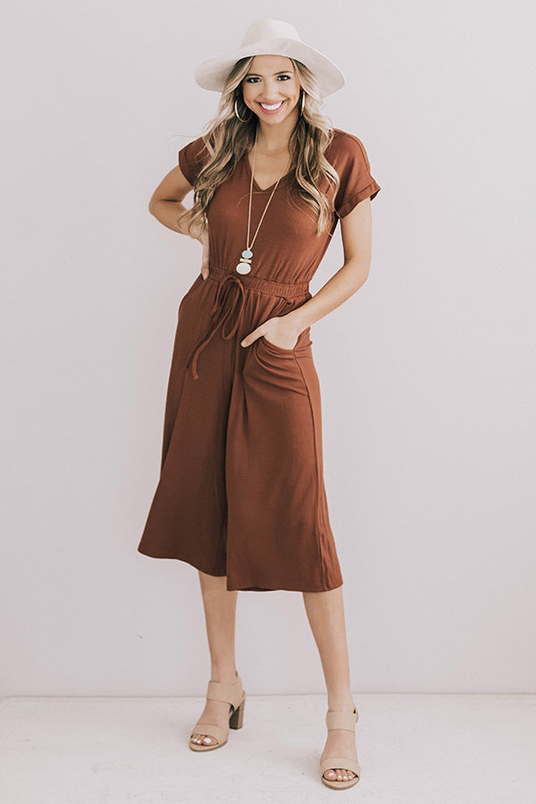Elodie Jumpsuit in Chocolate