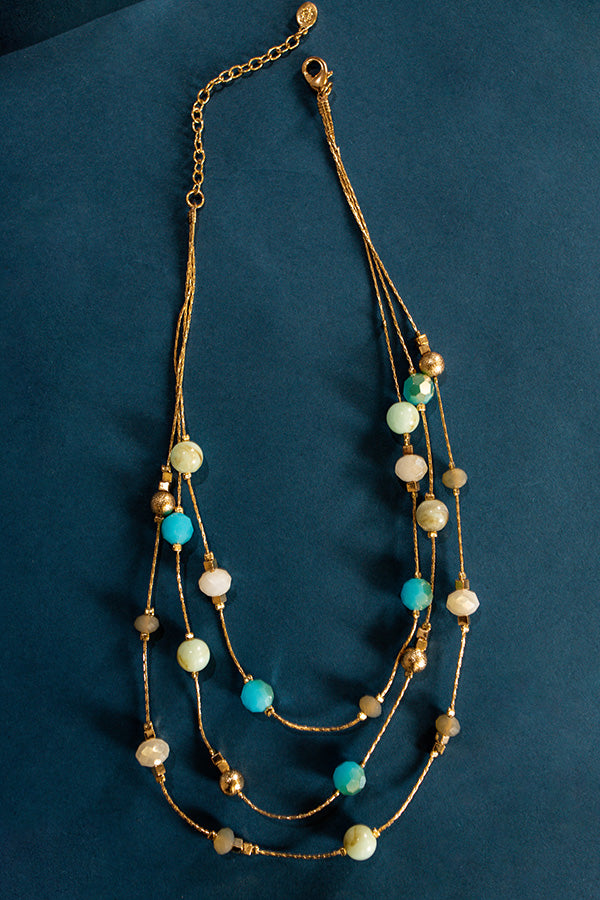 Let The Gold Times Roll Layered Necklace