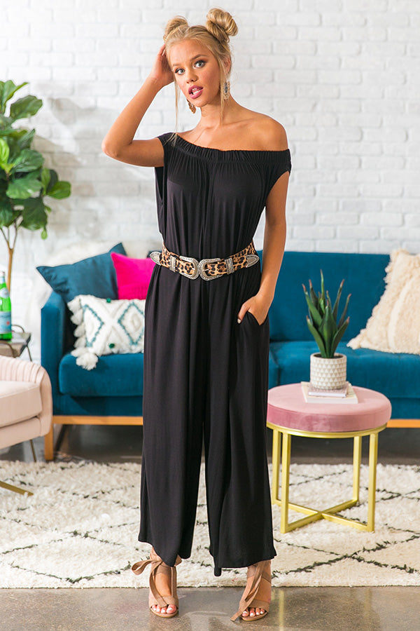 Party In Paris Jumpsuit in Black