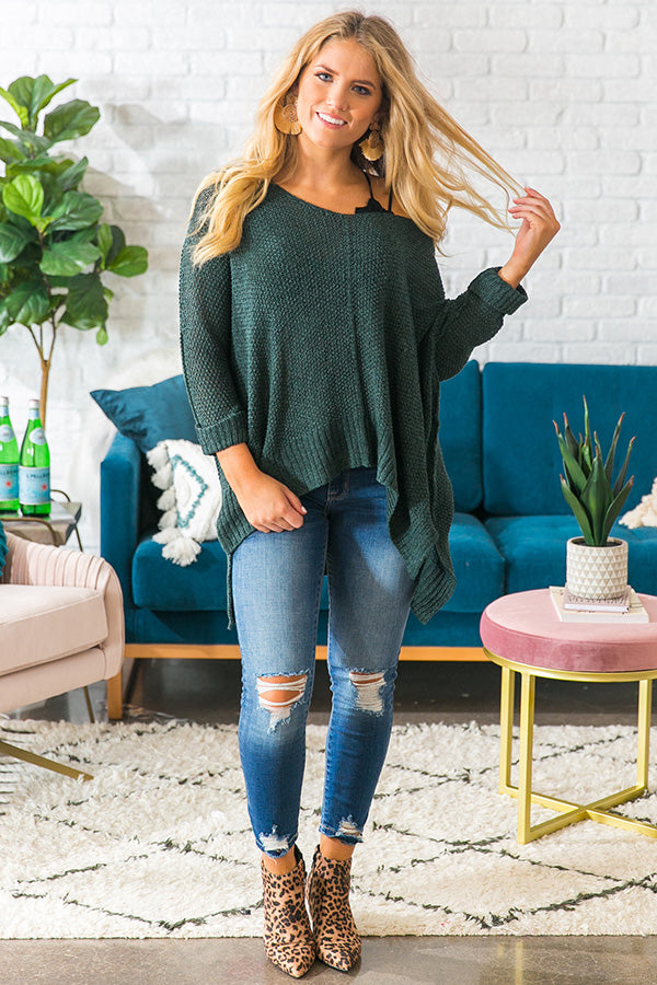 2abcfdb0857 Love Me Like You Mean It Knit Sweater in Hunter Green • Impressions Online  Boutique