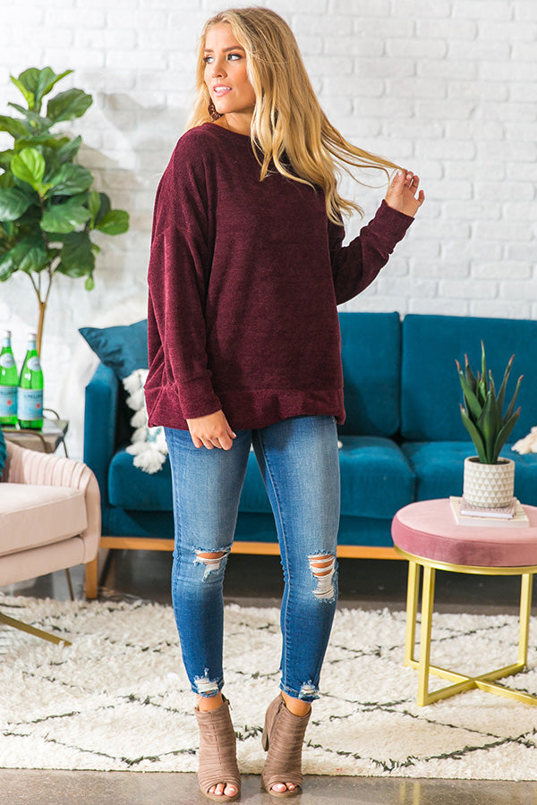 Chill In The Air Sweater in Purple
