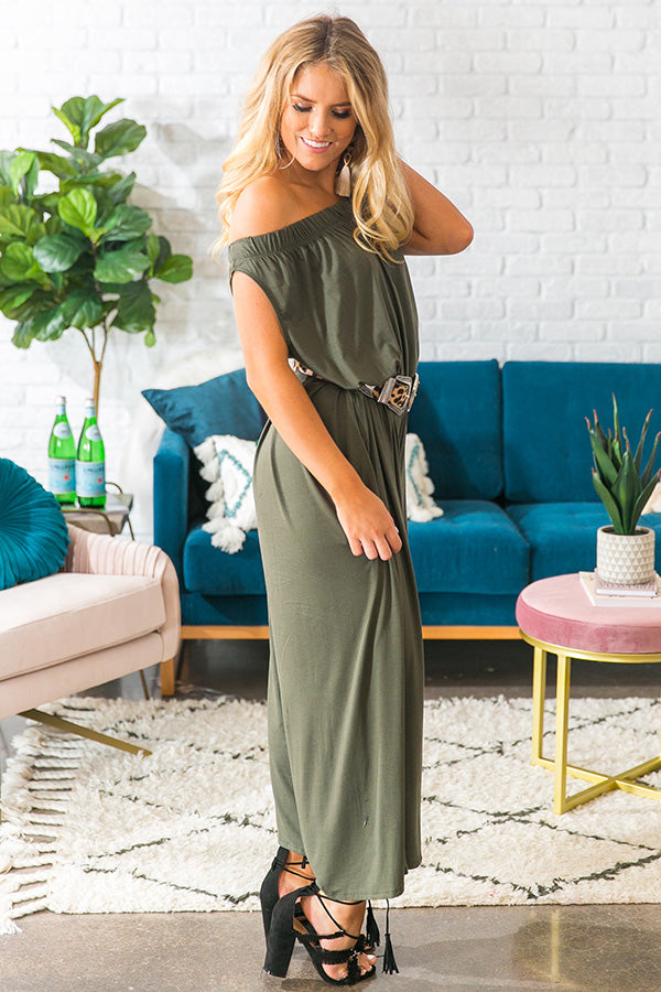 Party In Paris Jumpsuit in Martini Olive