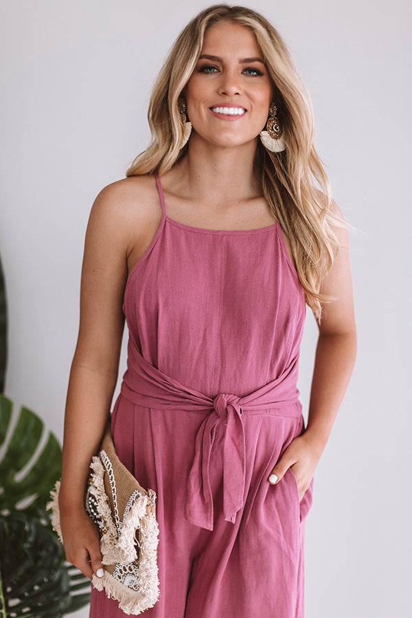 Better In Barcelona Jumpsuit in Blush