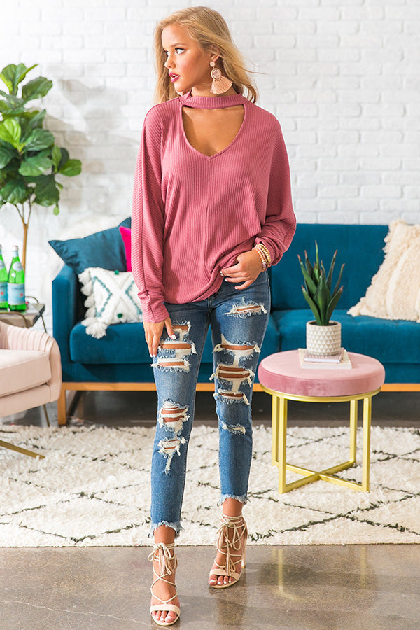 Make It A Mocha Shift Top in Blush
