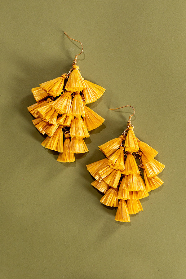 Perfect For The Party Earrings In Marigold