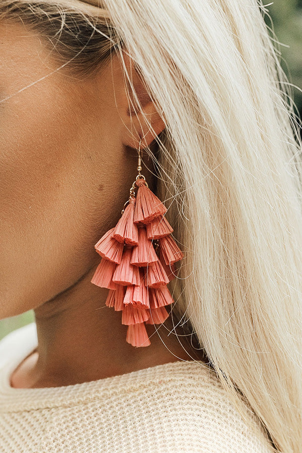 Perfect For The Party Earrings In Blooming Dahlia