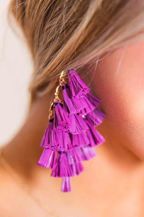 Perfect For The Party Earrings In Purple