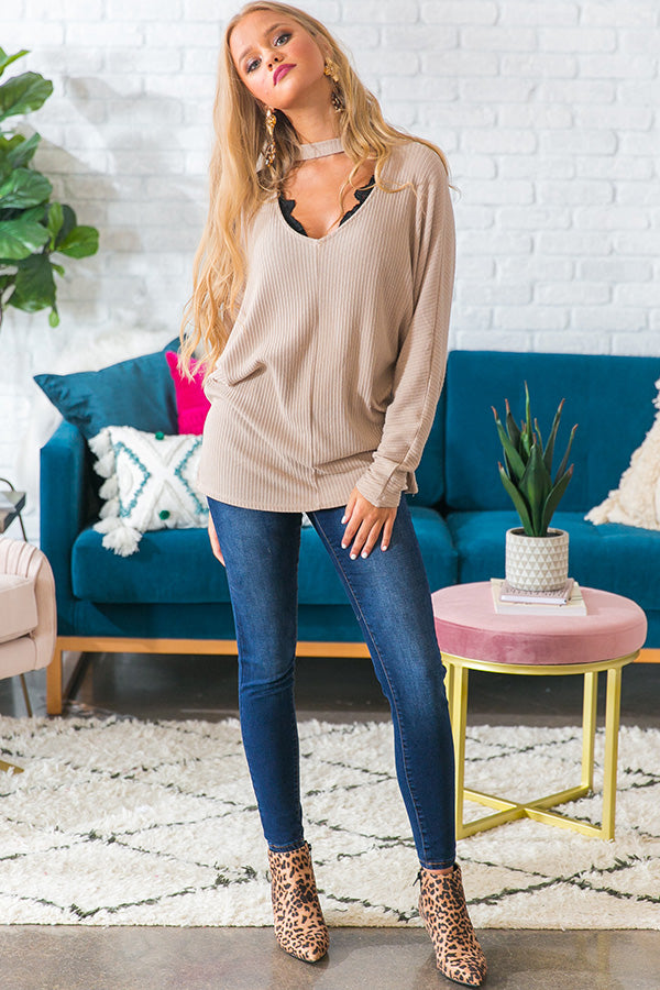 Make It A Mocha Shift Top in Iced Latte