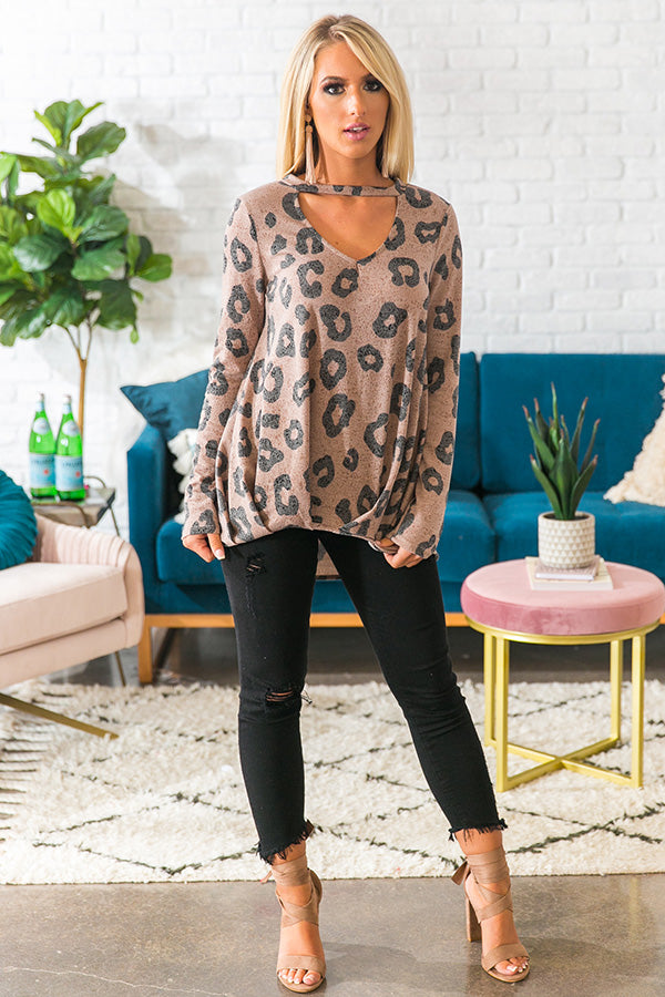 Brighton Brunch Leopard Top