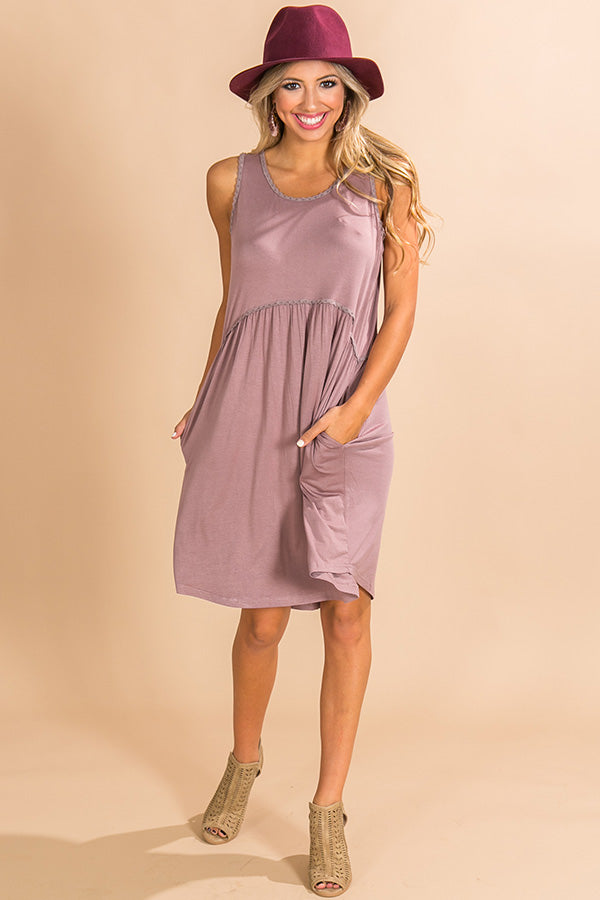 My Heart Is Yours Shift Dress in Heirloom Lilac