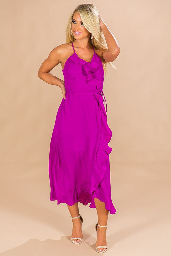 That's A Wrap Ruffle Maxi in Orchid