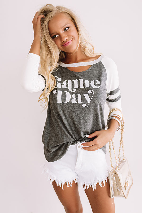 Game Day Long Sleeve Varsity Tee