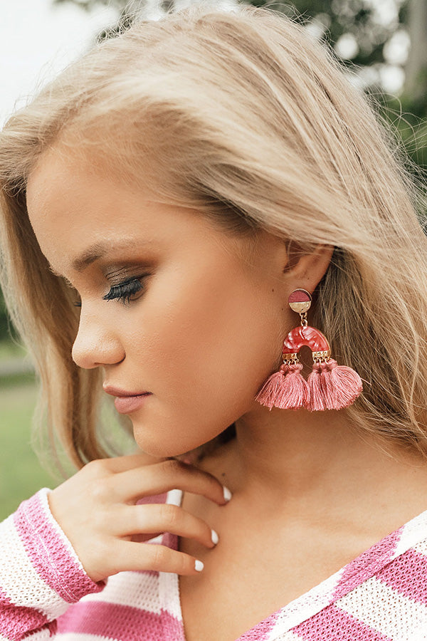Sweeter In The South Earrings In Blush