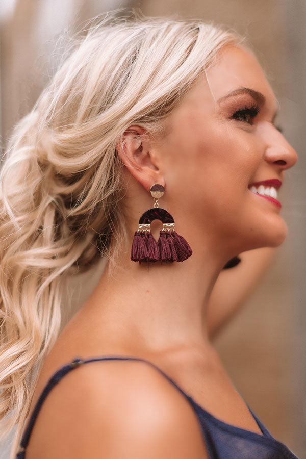 Sweeter In The South Earrings In Windsor Wine