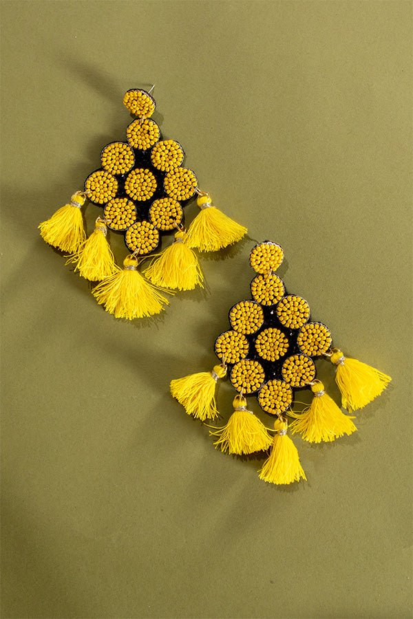 Poppin' Bottles Earrings In Yellow