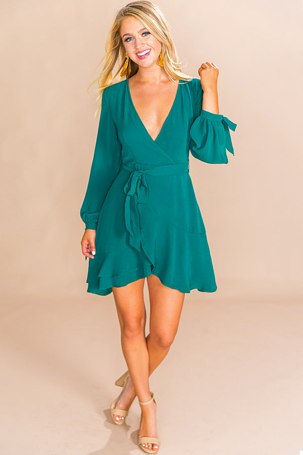 Brooklyn Bombshell Dress in Green