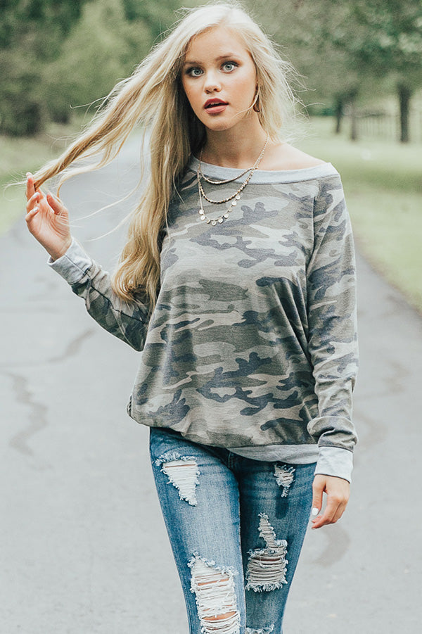 Catch Me If Ya Can Camo Top