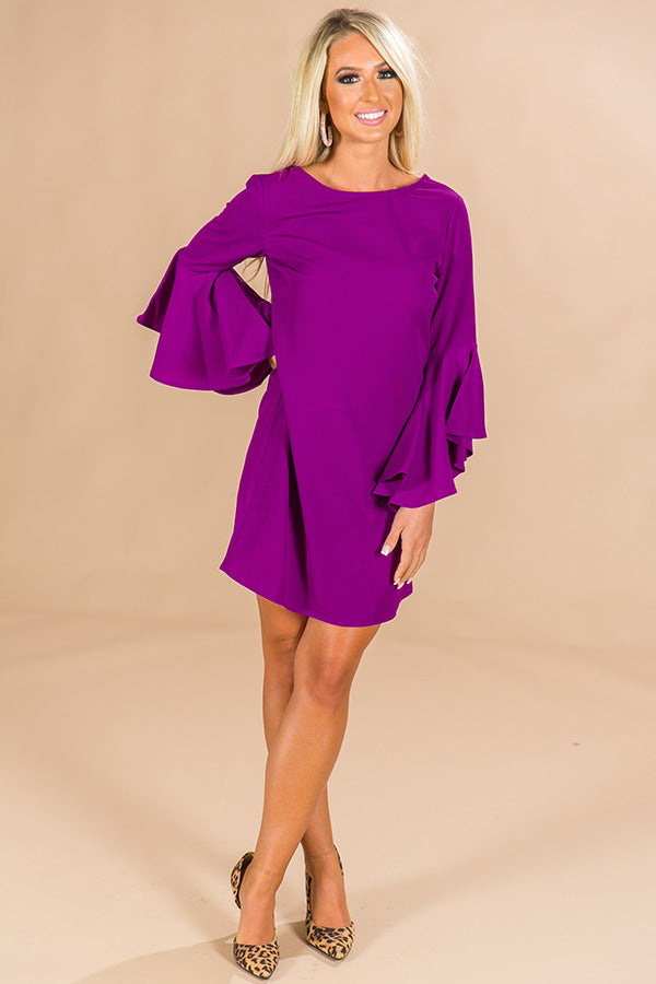 69013b9ec175 Shopping In Beverly Hills Shift Dress in Purple • Impressions Online  Boutique