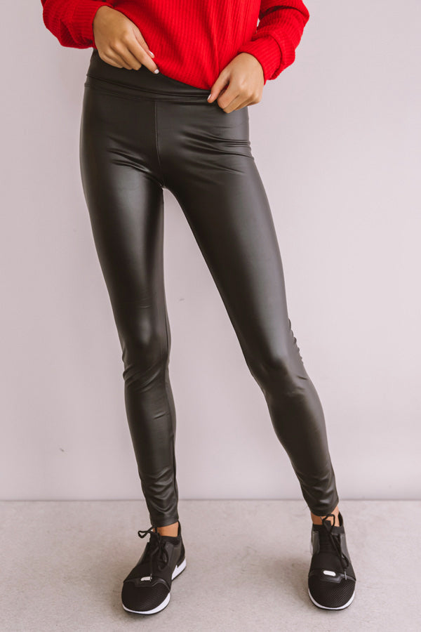 Making Headlines High Waist Faux Leather Legging